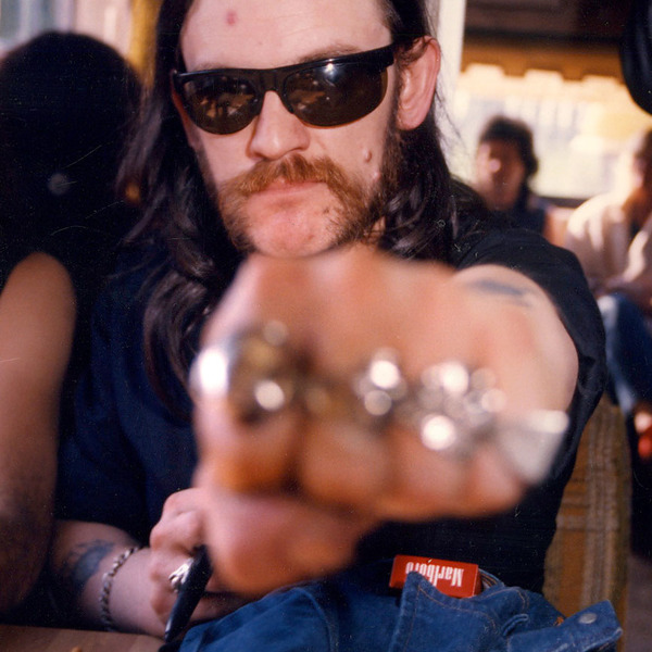 Lemmy in Tour Bus circa 1984